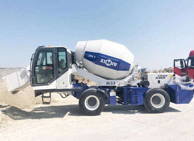 AIMIX AS3.5B Self Loading Concrete Mixer Sent To Kazakhstan