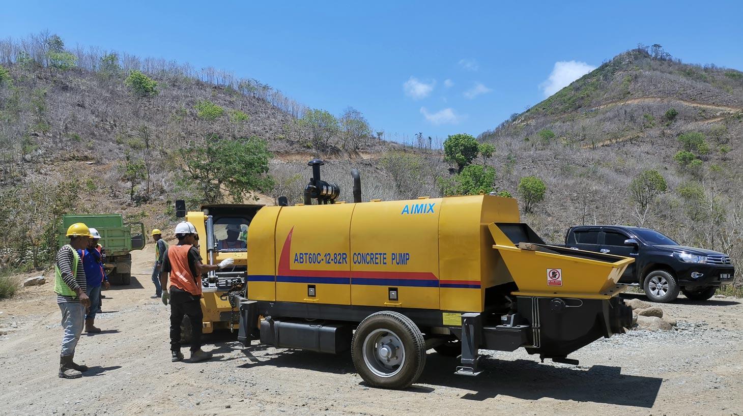 Pompa Beton Diesel di Indonesia