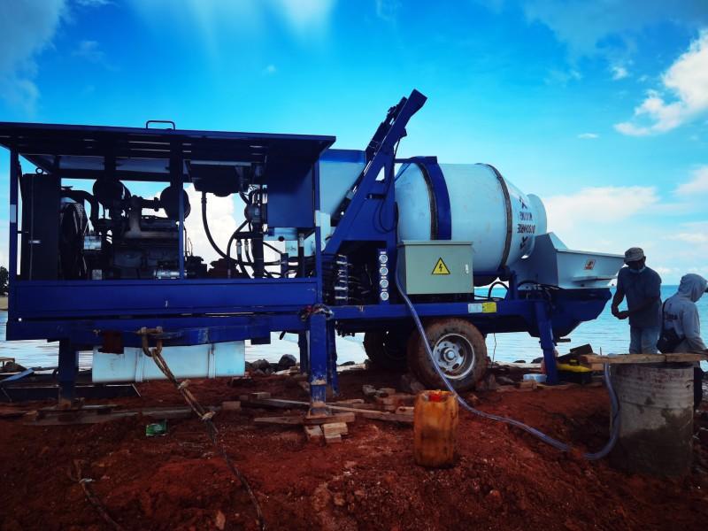 Pompa mixer 40m3 di Bangka Indonesia