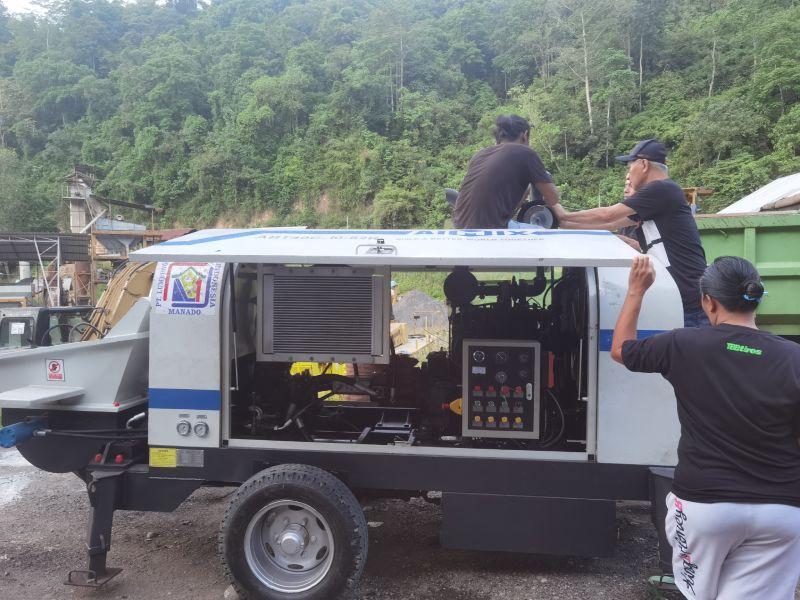 Pompa beton ABT40C di Indonesia