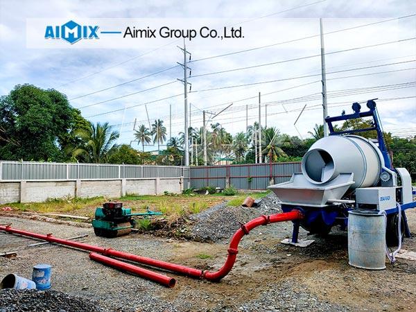 Pompa mixer beton Aimix di Filipina