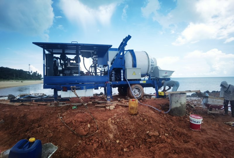 pompa pengaduk beton di Indonesia