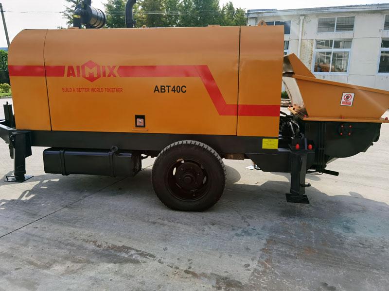 Pompa beton diesel 40m3 ke Indonesia