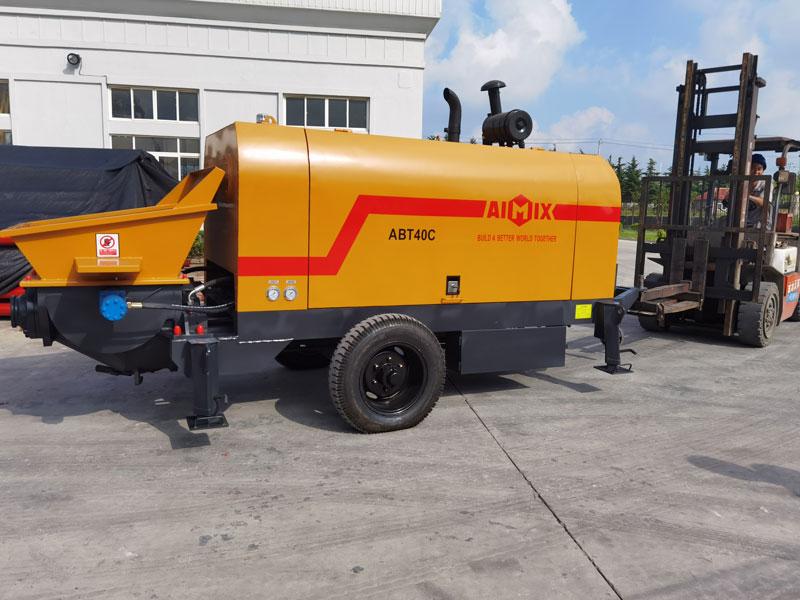 Pompa beton diesel ABT40C ke Indonesia