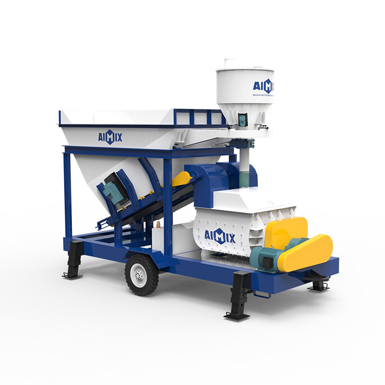 AJS-25 twin shaft mixer small batching plant