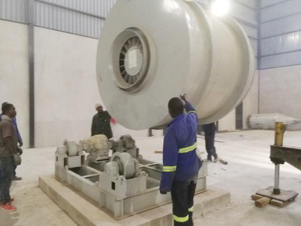 Aimix garing mortir tanduran nyetel munggah ing Zambia 3