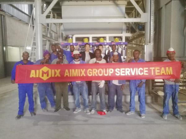 Aimix garing mortir tanduran nyetel munggah ing Zambia 5
