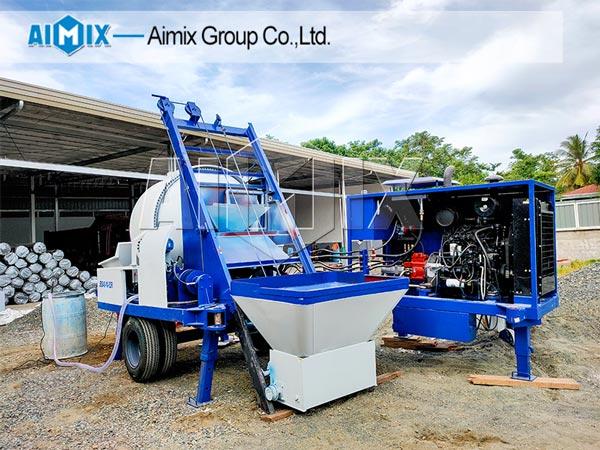 Aimix konkrit mixer kumpa ing Filipina