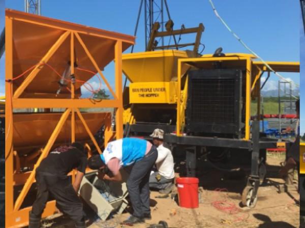 Aimix konkrit pump diekspor 1