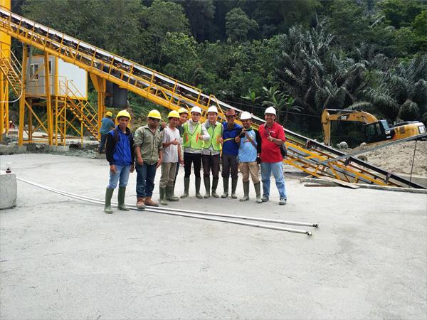 Aimix garing nyampur beton tanduran nginstal ing Indonesia 2