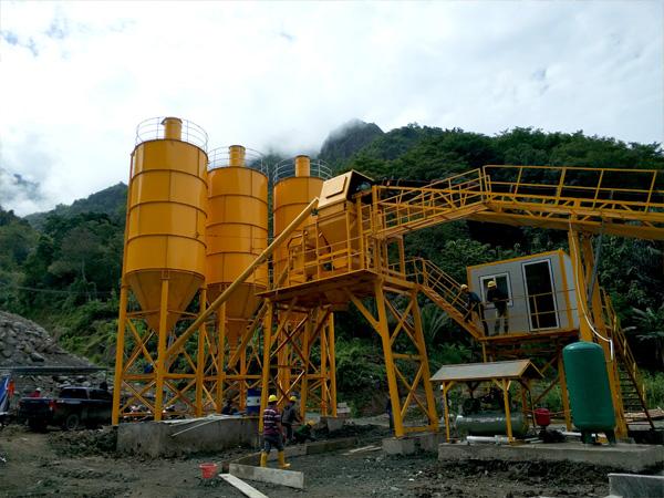 Aimix garing nyampur beton tanduran nginstal ing Indonesia 5