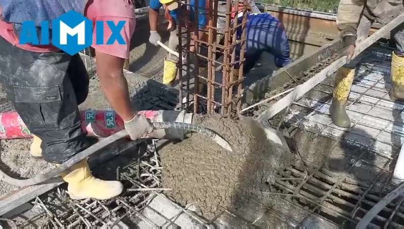 AIMIX ABT60C Diesel Konkrit Pump Digunakake ing Indonesia 4