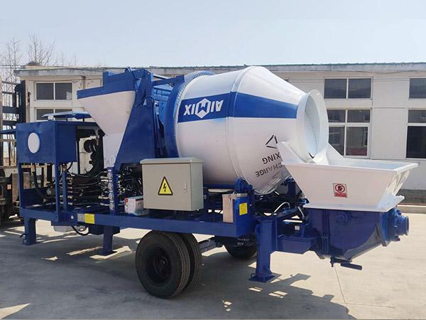 aimix concrete mixer pump dikirim menyang Indonesia 1