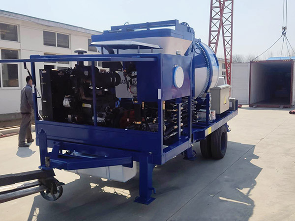 aimix concrete mixer pump dikirim menyang Indonesia 4