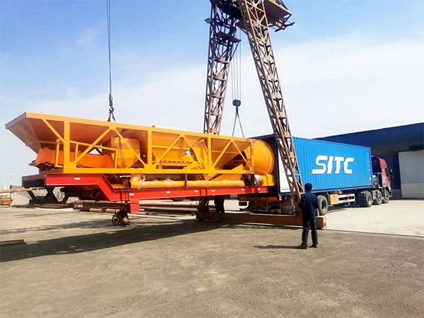 Aimix AJY-60 seluler konkrit plant dikirim menyang Indonesia 1