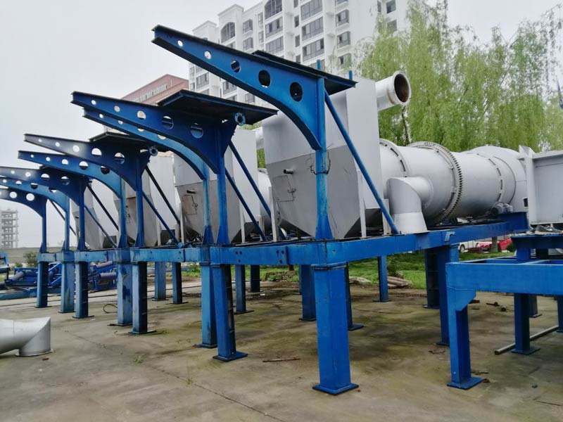 AIMIX 20 ton drum aspal mix plant tanduran dikirim menyang Ukraina