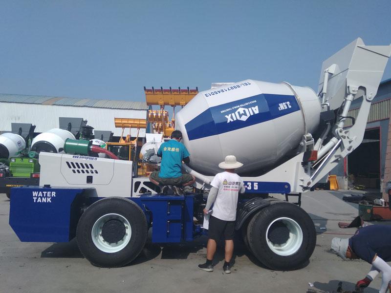 AIMIX AS3.5 self loading mixer dikirim menyang Rusia