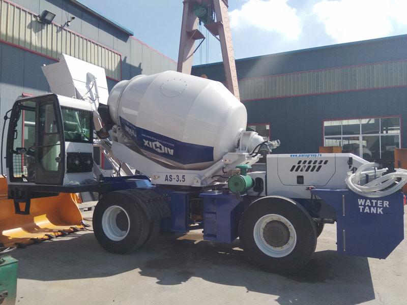 AS3.5 poto loading mixer dikirim menyang Kazakhstan