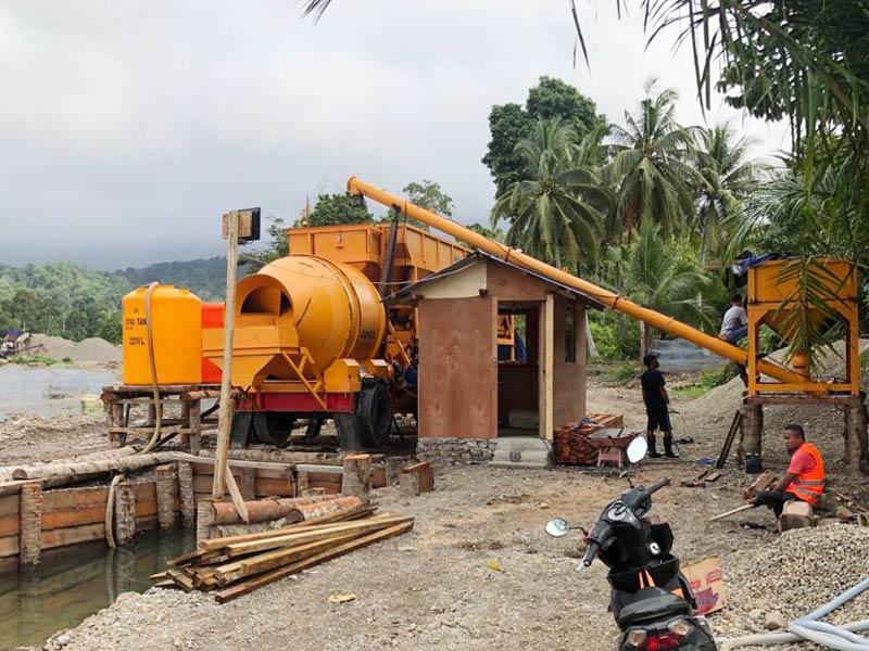 mobile konkrit batching plant ing Indonesia