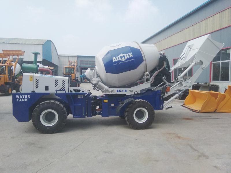 AIMIX AS1.8 poto loading mixer dikirim menyang Rusia