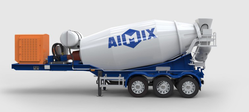 semi trailer konkrit mixer truk