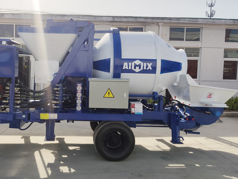 40 diesel konkrit mixer pump dikirim menyang Indonesia
