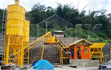 Aimix HZS60 Concrete Batching Plant Was Set up in Indonesia in April, 2018