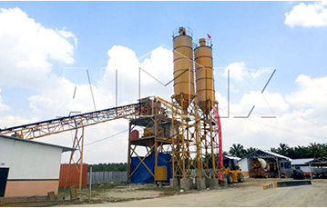 Aimix HZS90 Concrete Batching Plant set up in Indonesia in 2017