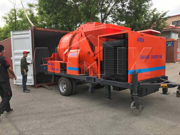 Aimix JB40R diesel concrete mixer pump sent to Jordan