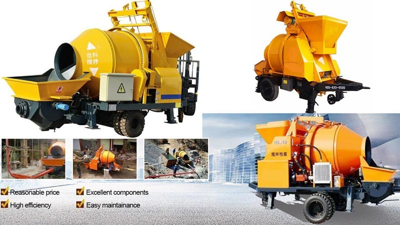 concrete mixer pump advantages