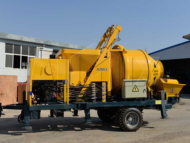concrete mixer with pump for sale
