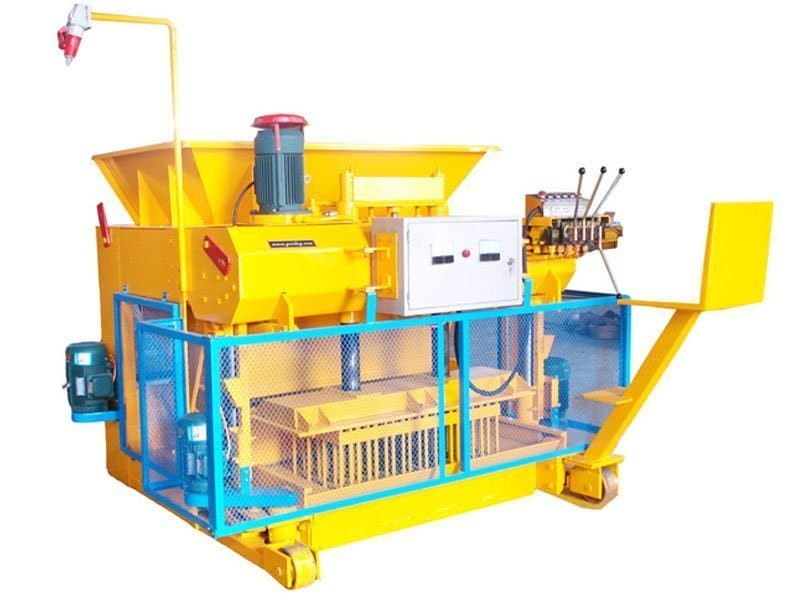 mobile block making machine