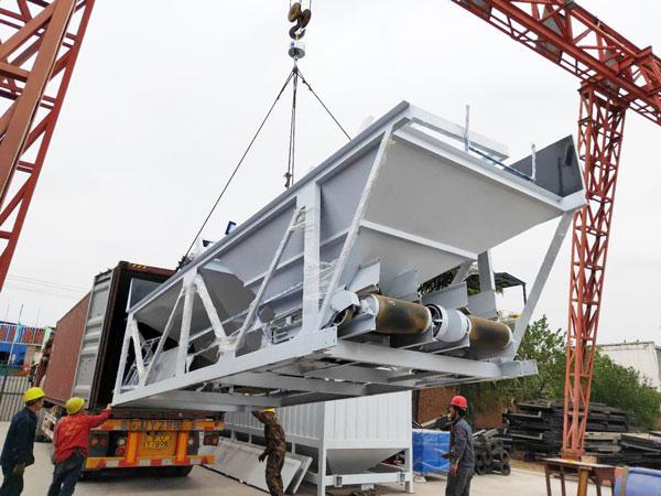 Aimix AJ-90 concrete plant sent to Indonesia 2