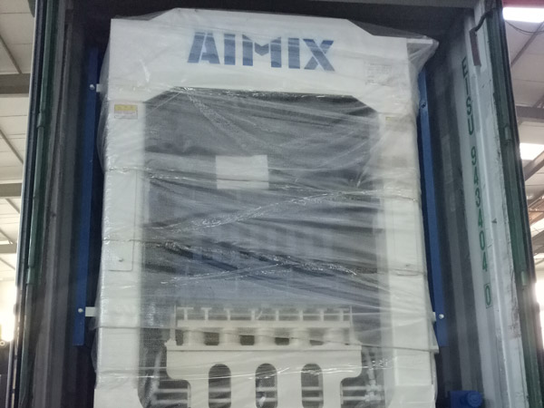 Aimix hollow block machine exported to Dominica