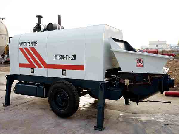 HBTS40 diesel concrete pump for sale in indonesia