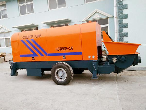 HBTS80 diesel concrete pump for sale in indonesia