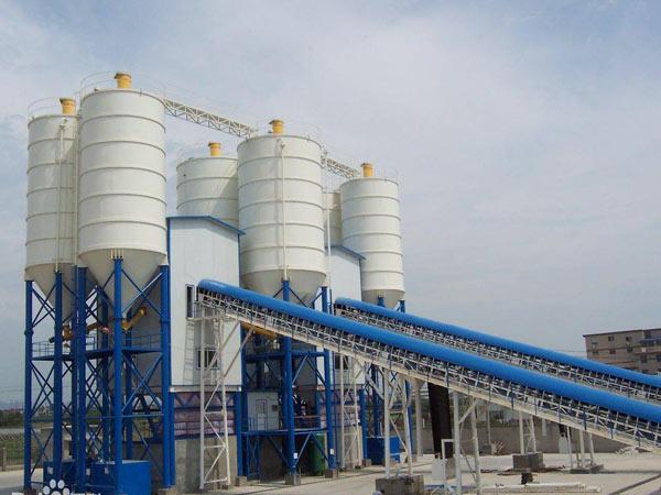 HZS180 belt type concrete plant