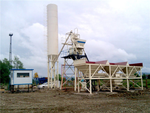 HZS35 wet mix concrete plant
