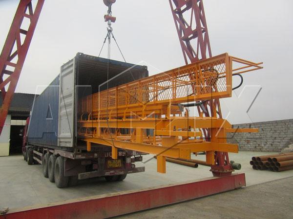 aimix dry concrete plant exported