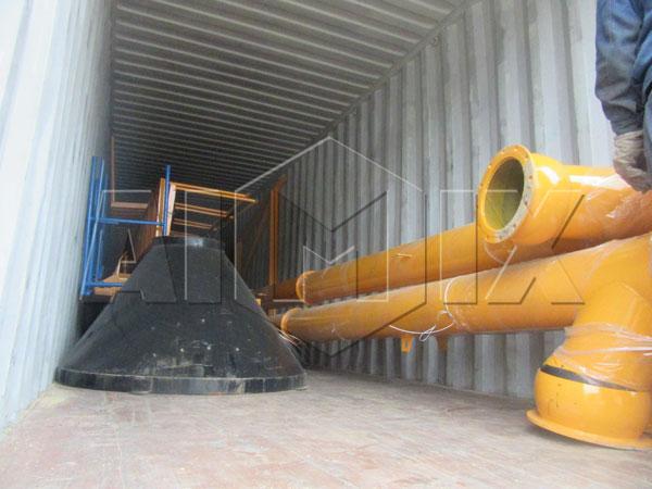 aimix concrete plant exported