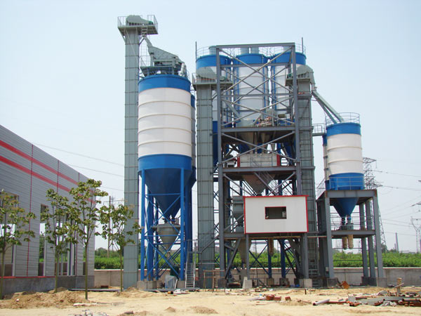stepped type dry mortar mix plant
