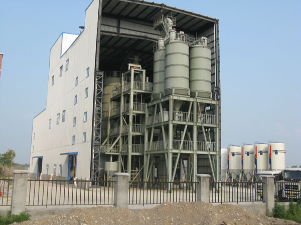 tower type dry mix mortar plant