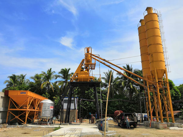 Aimix AJ35 concrete plant set up in the Philippines