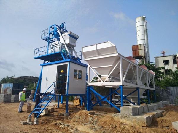 Aimix AJ50 wet mix concrete plant in Sri Lanka