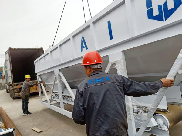 Aimix AJ50 concrete plant sent to Bangladesh 4