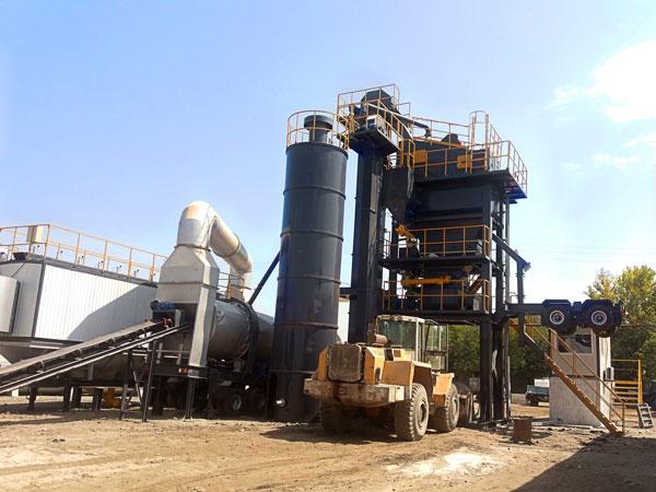 ALYQ60 mobile asphalt mixing plant
