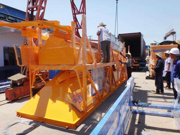 Aimix AJ35 Concrete Plant Sent to Uzbekistan 1
