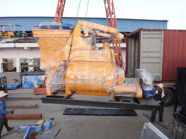 Aimix AJ35 Concrete Plant Sent to Uzbekistan 2