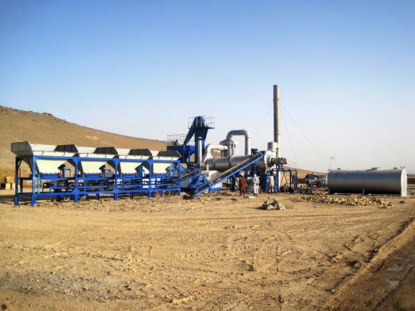 Aimix asphalt drum mix plant set up in Afghanistan