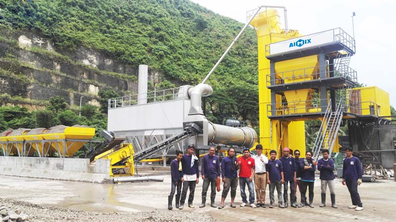 Aimix asphalt mixing plant set up in the Philippines